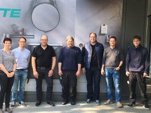 Das Klene Team zu Besuch beim Wannenhersteller Bette in Delbrück.